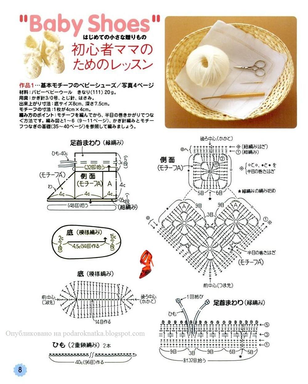 Вязание крючком тапочек из мотивов
