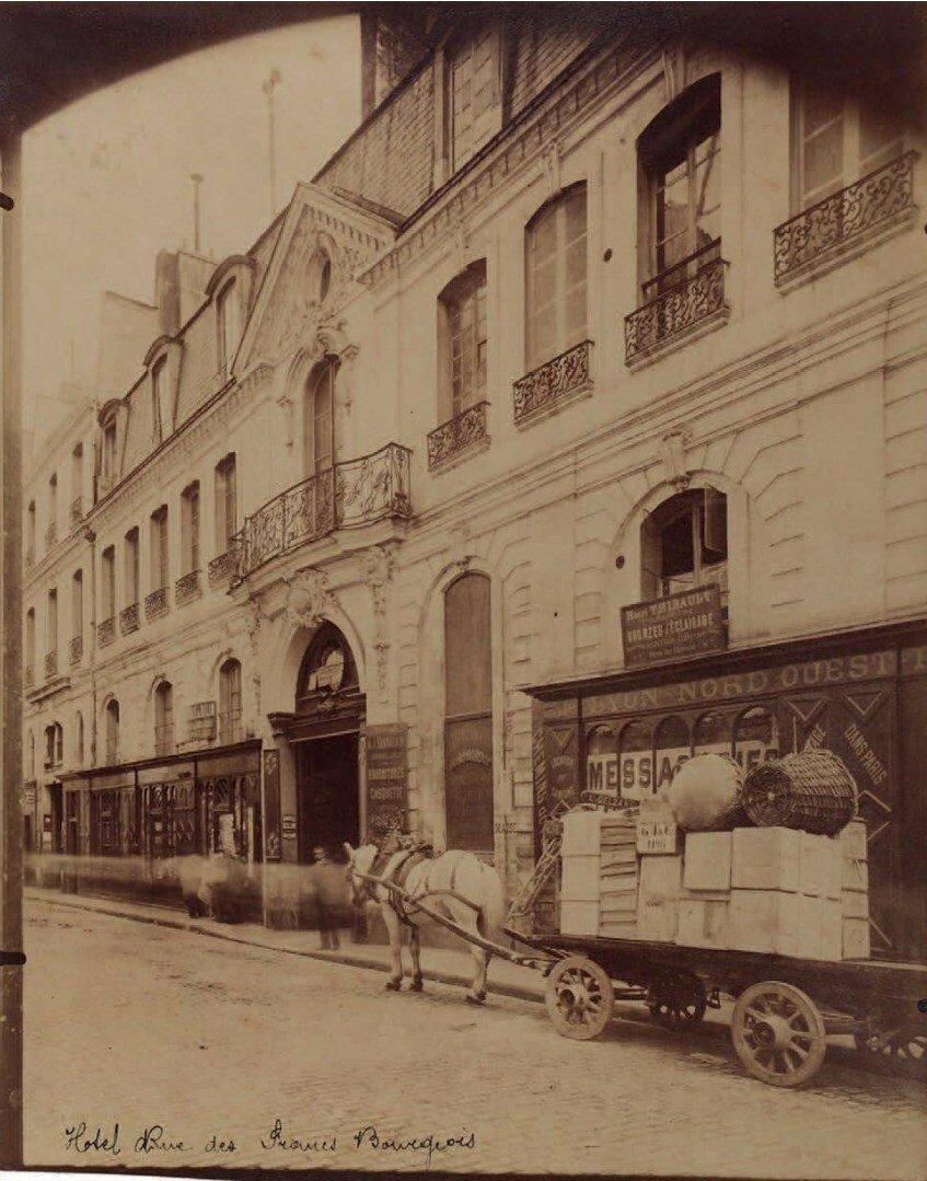 1898. Особняк на Рю Фран-Буржуа