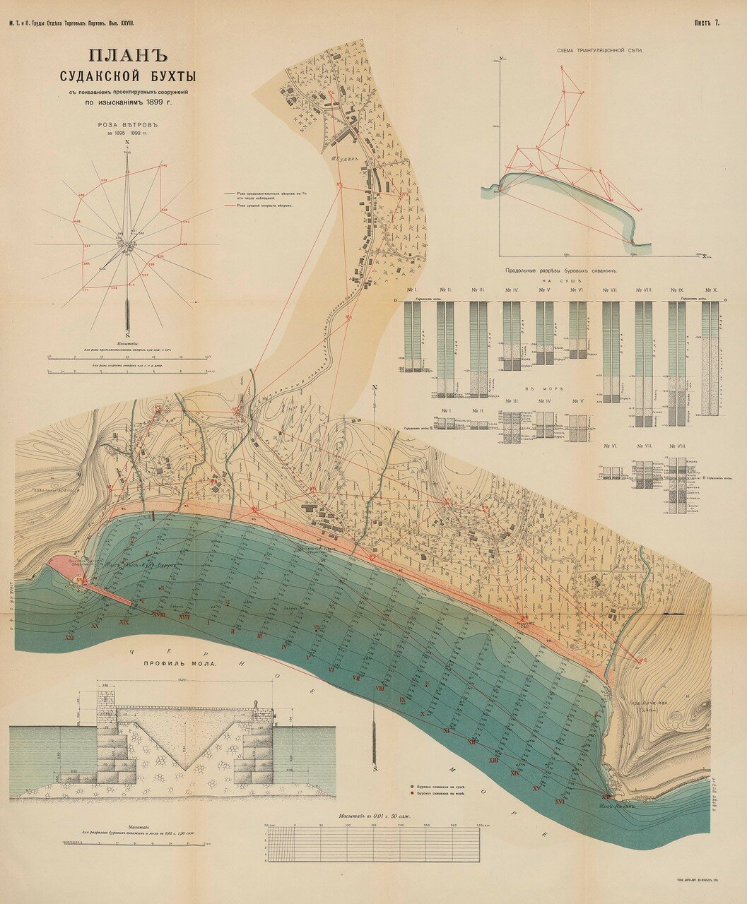 05. План Судакской бухты. 1899