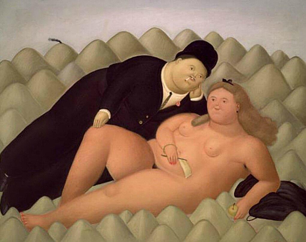 Los Amantes, 1968_Fernando Botero,