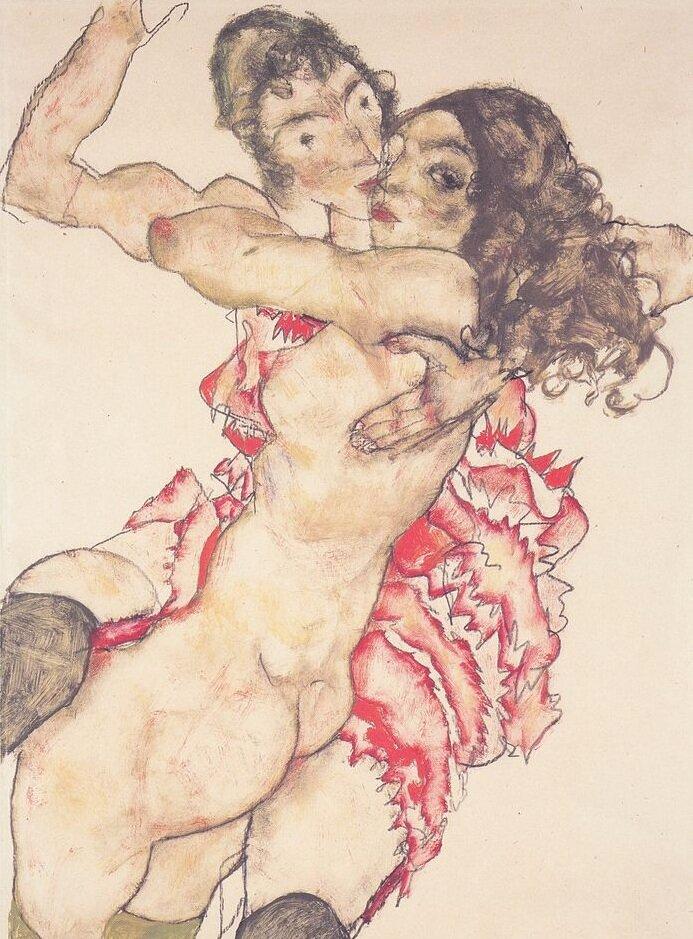 Две подружки 1915, Шиле Эгон (1890-1918)