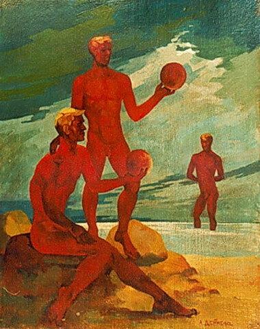 На пляже, 1961. Дейнека Александр Александрович (1899-1869);