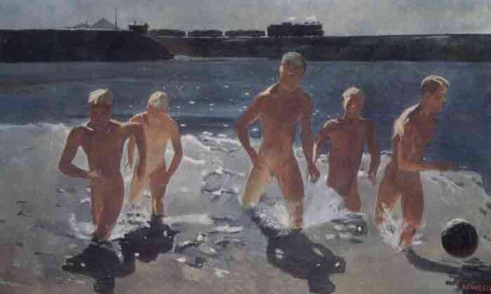 Донбасс. Обеденный перерыв. 1935, Дейнека А.А. (1899-1969)