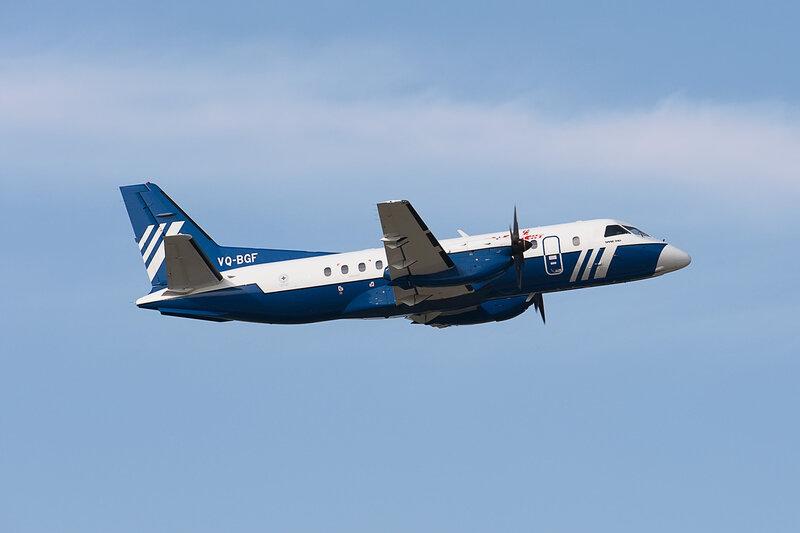 Saab 340B (VQ-BGF) Полет DSC2768