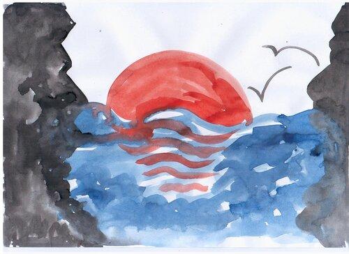 Рисунки акварелью, Исхакова Лилия