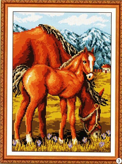 СХЕМЫ ВЫШИВКИ КРЕСТОМ/лошади. вышивка картин. в цитатник. лошади.