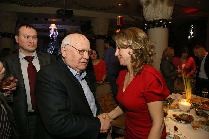 Божена Рынска и Михаил Горбачев