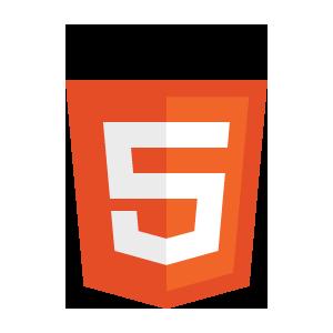 Alpha-transparent HTML5 logo