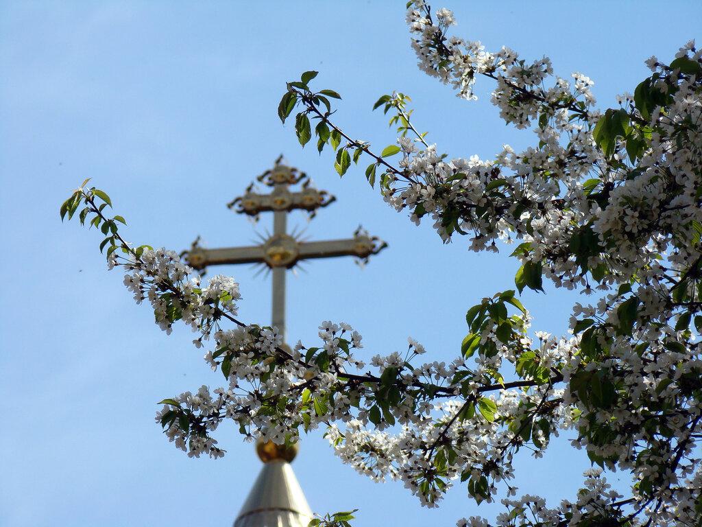 Крест на часовне Святого источника