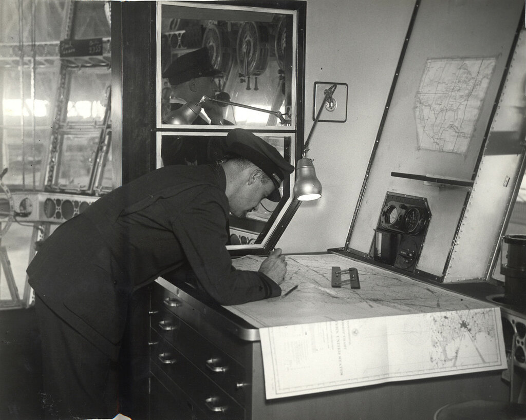 Navigation Room in a Dirigible
