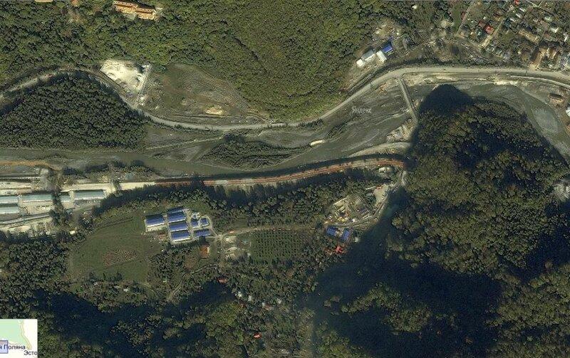 Карта дороги со спутника