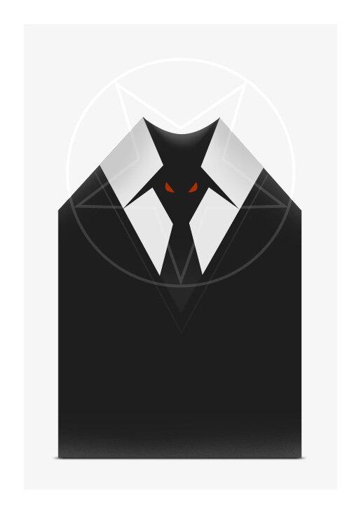 демонический галстук