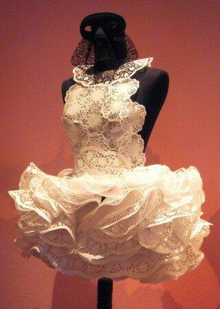Идеи использования вязаных салфеток платье