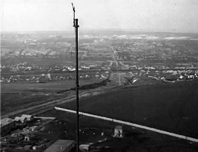 Строительство телевизионной мачты в Белгороде, 1959.