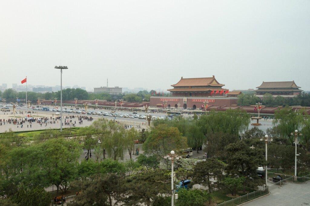 врата Тяньаньмэнь и Гугун, Пекин, площадь Тяньаньмэнь