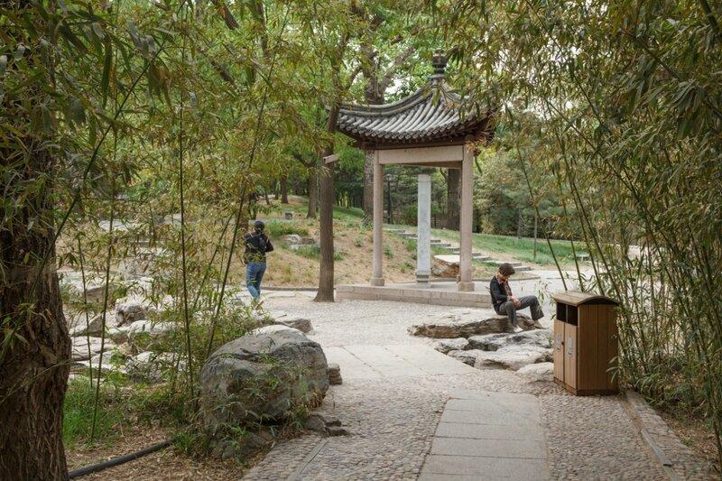 Треугольная беседка, Парк Таожаньтин, Пекин