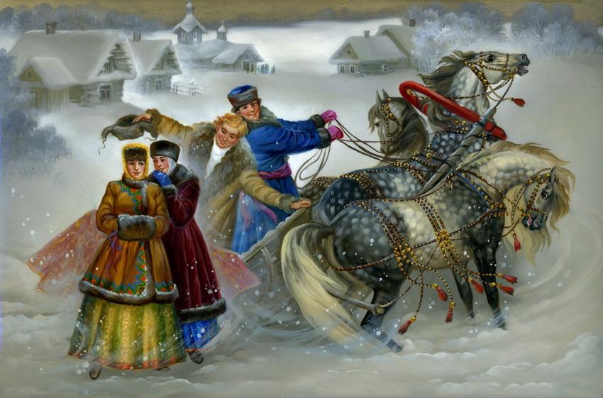 Старая Русь в Федоскинских миниатюрах.