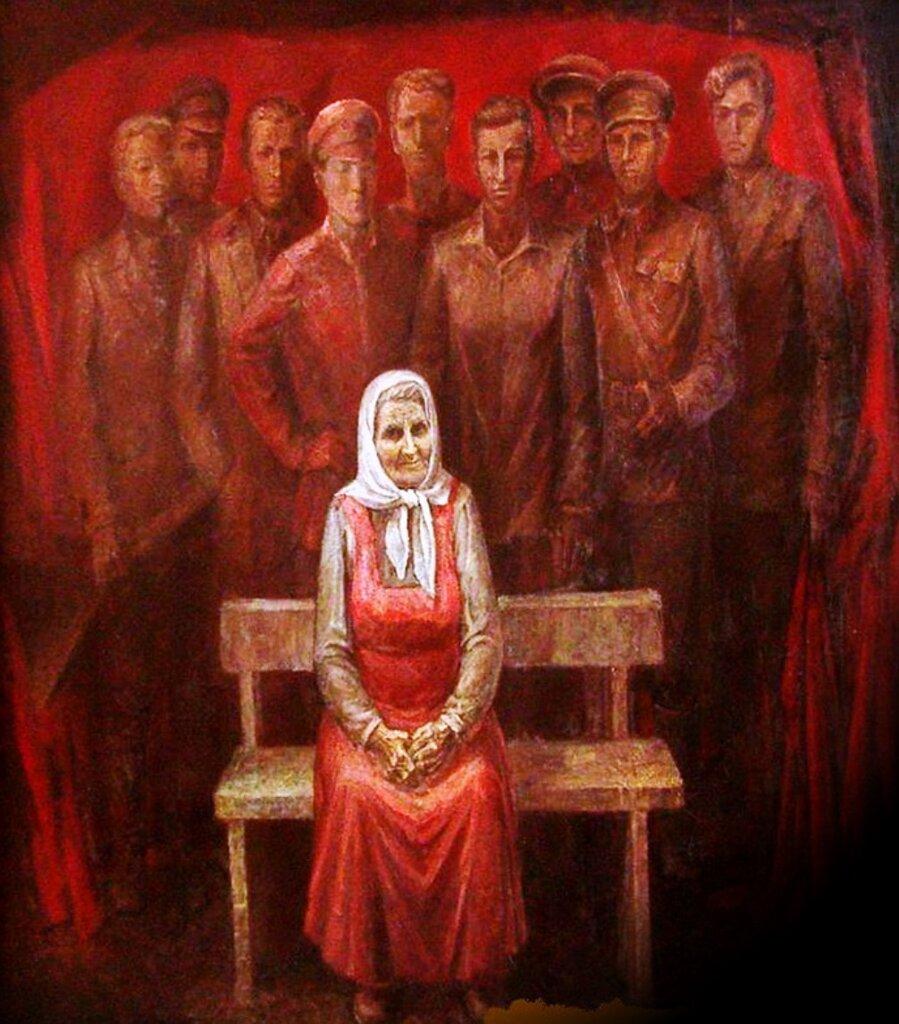Мать. Панно. Художник Александр Мызин. 1973 год..jpg