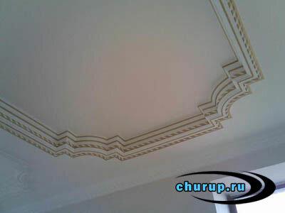 Потолки из гипсокартона в классическом стиле.