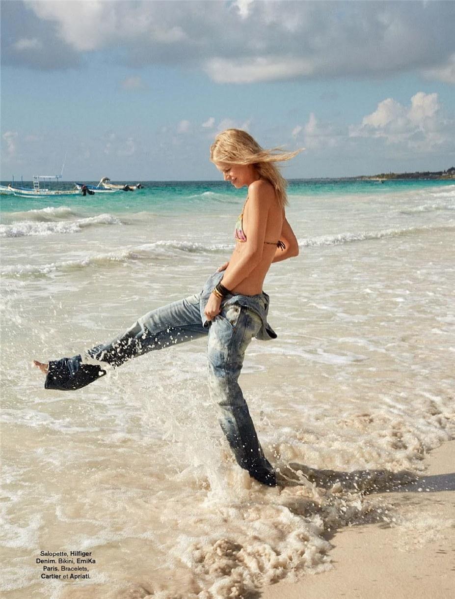 Стиль этого лета - Надин Леопольд / Nadine Leopold by Hilary Walsh in Glamour France june 2014