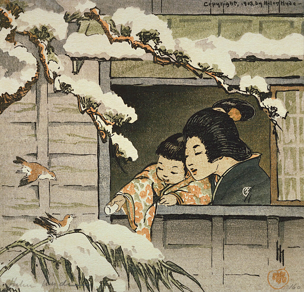 Blossom Time in Tokyo 1914 Helen Hyde