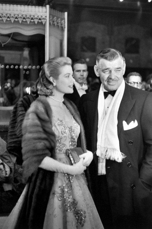 Грейс Келли и Кларк Гейбл в 1954 году