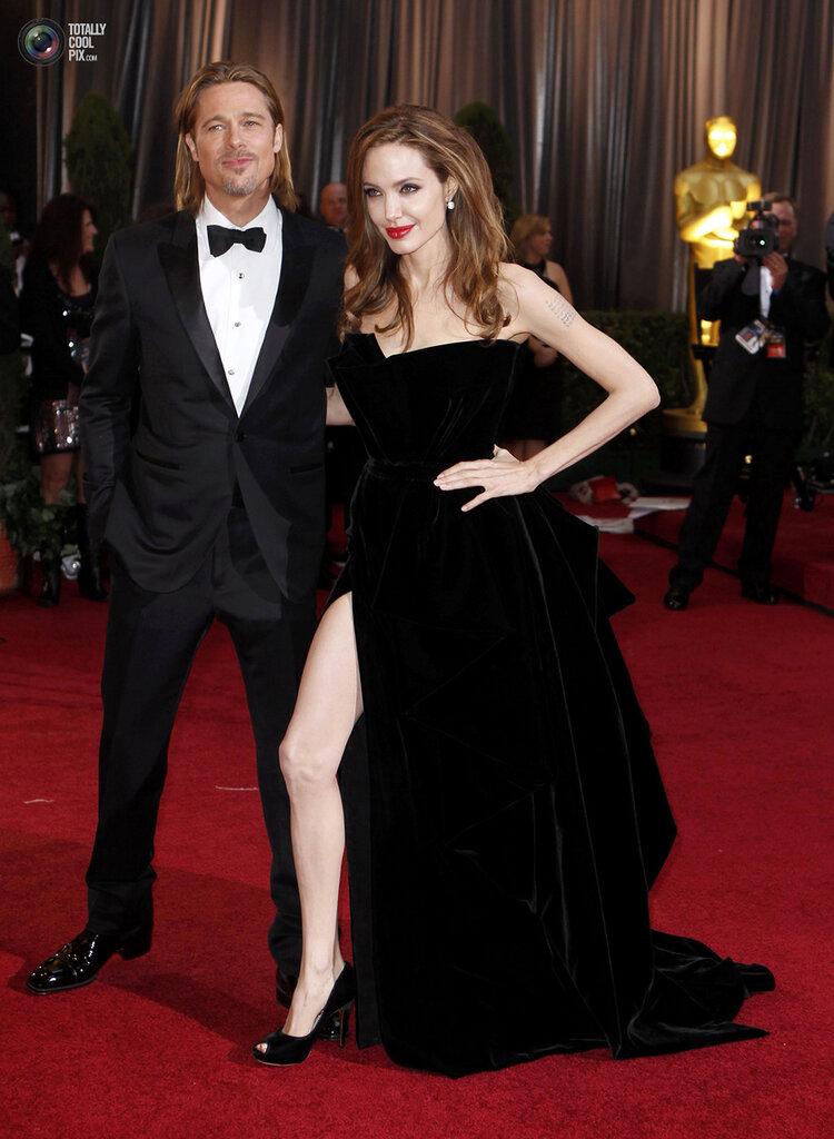 Actor Brad Pitt and his partner actress Angelina Jolie