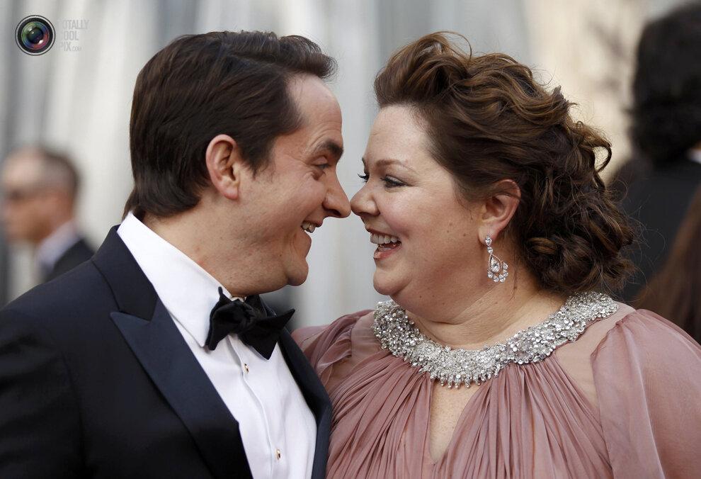 Actress Melissa McCarthy and her husband Ben Falcone