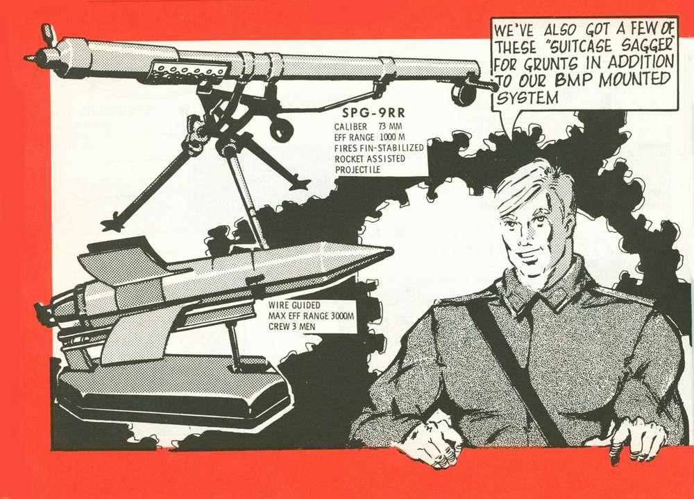 Дополнительное вооружение, устанавливаемое на боевые машины пехоты: противотанковый гранатомет СПГ-9 Копье и ПТУР