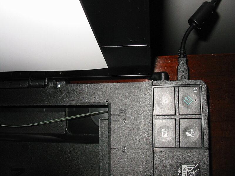 Подключение кабелей сканера
