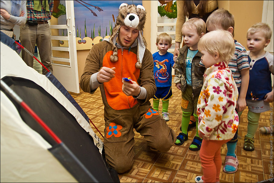 Медведь и дети