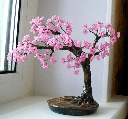 Бисероплетение деревья сакура