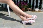 Вязание крючком: Тапочки из бабушкиных квадратов.