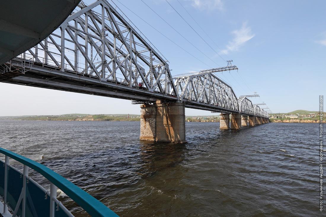 Сызранский железнодорожный мост через Волгу