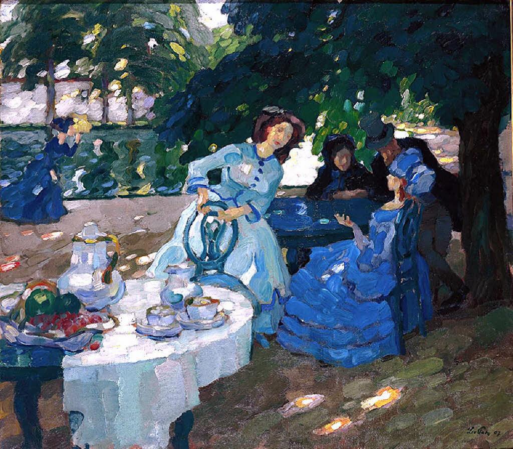 Завтрак на свежем воздухе, Путц, Лео (1869 - 1940)