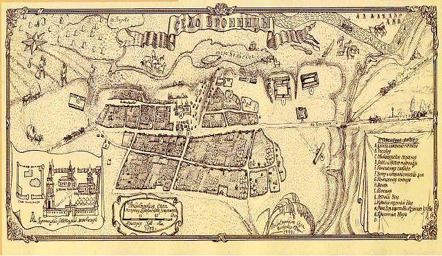 Карта села Бронницы