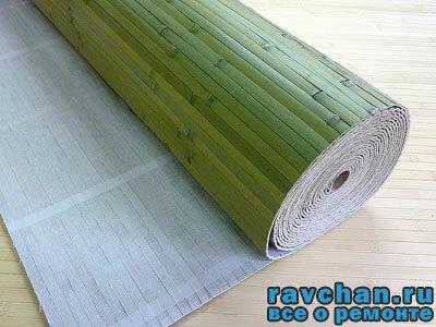 Бамбуковые обои как клеить обои из