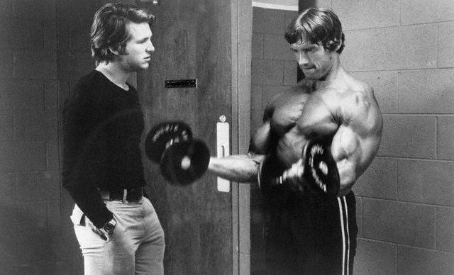 Jeff Bridges and Arnold Schwarzenegger