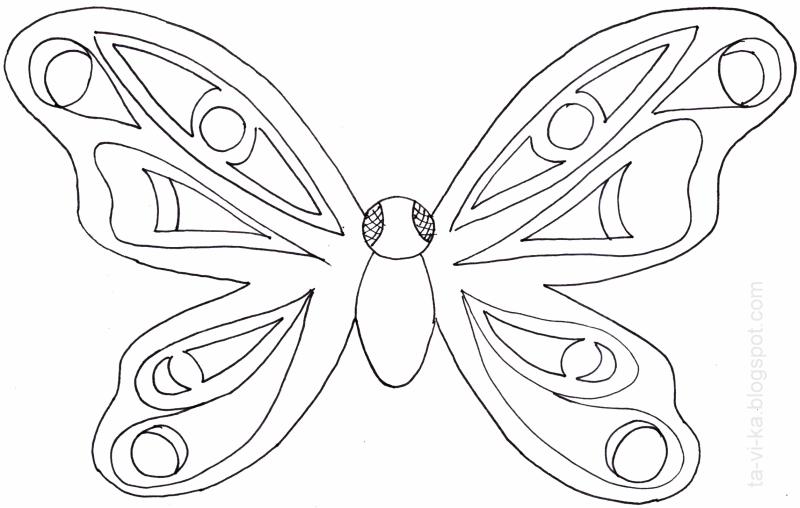 бабочка - детская поделка из бумаги