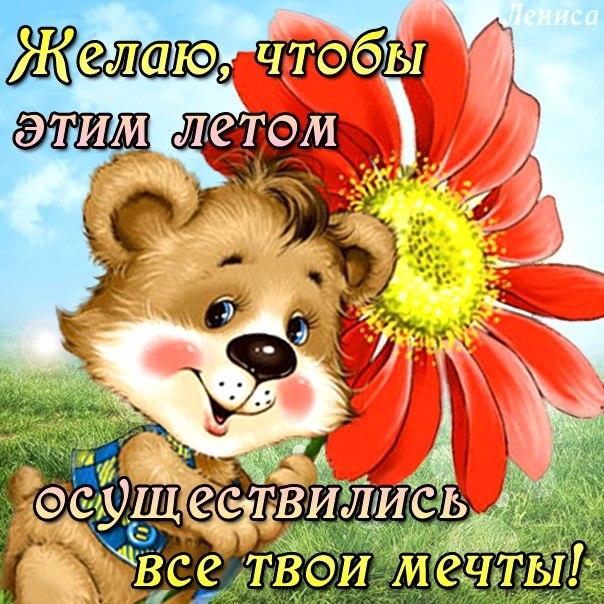 Желаю, чтобы этим летом осуществились все твои мечты