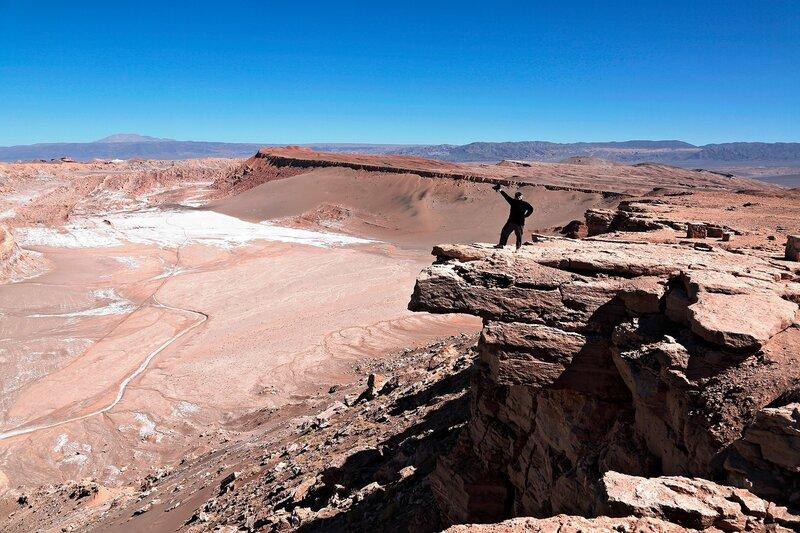 Удивительная Лунная долина в пустыне Атакама, камень койота