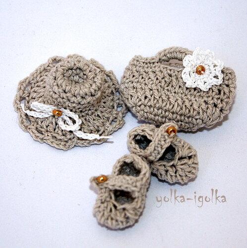 Шляпка, сумочка и туфли