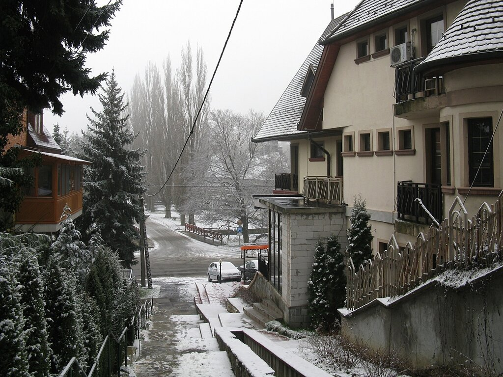 Miskolc after a snowfall