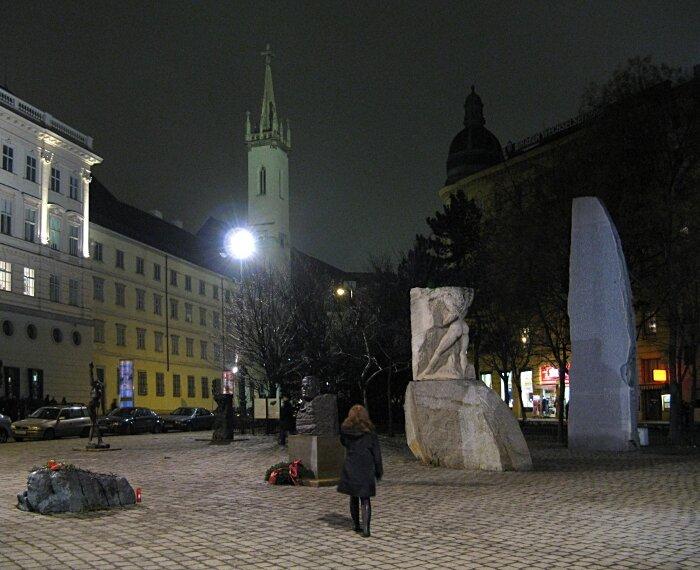 Night Vienna. Albertinaplatz