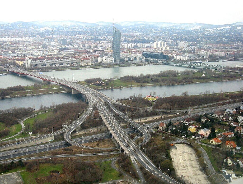 Vienna, view from the Danube tower