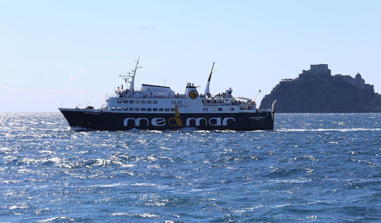 Medmar Benito Buono ferry off the coast of the island of Ischia