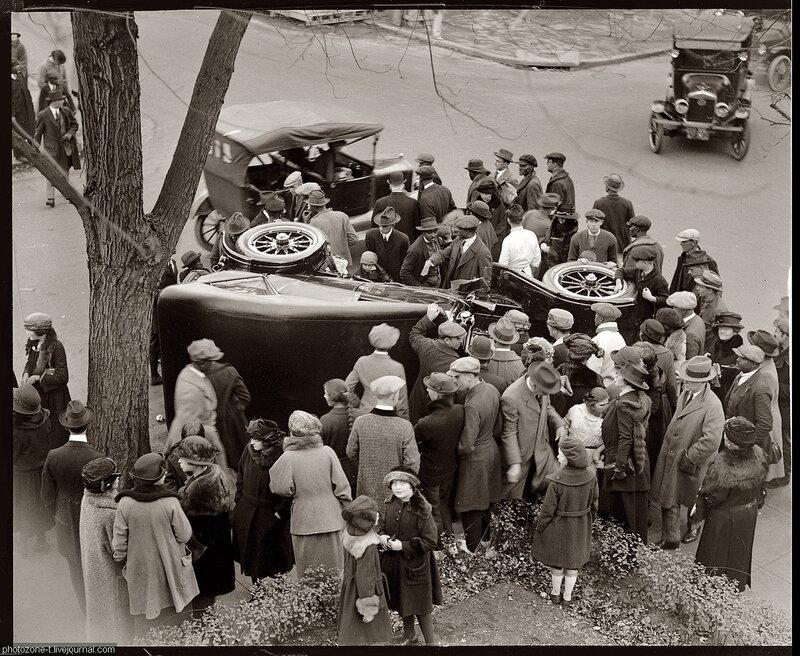 Автомобильные аварий, США начало XX века.