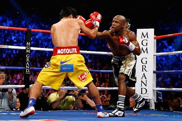 Боксеры Мейвезер иПакьяо провели финальную пресс-конференцию перед боем вЛас-Вегасе