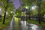 Утро 22 мая, дождь