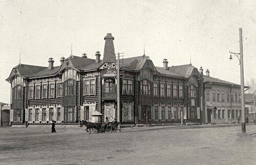 Владимирская площадь в старом Красноярске.